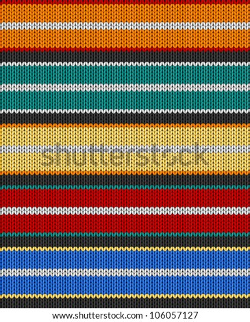 Knit texture. Fabric multicolor background. Seamless vector eps10 pattern. Raster file included in portfolio - stock vector
