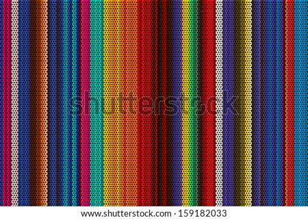 Knitted poncho vector - stock vector