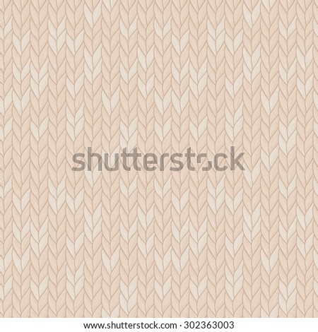 Knitted seamless pattern. Natural warm knitted fabric. Eps, added to swatches. - stock vector