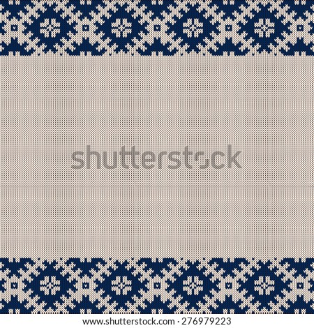 Knitted vector background pattern with wool sweater texture.  - stock vector