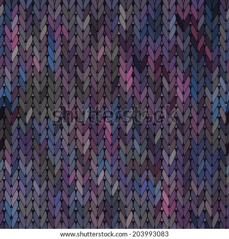 Knitted vector Seamless Fabric Pattern - stock vector