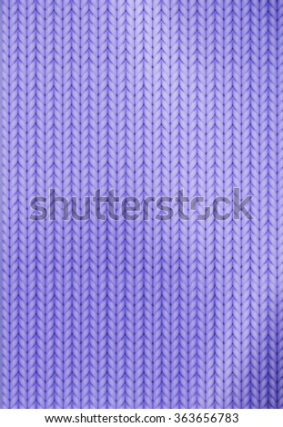 Knitting Pattern. Woolen cloth. Purple knitting wool texture background. Sweater or scarf texture. Knitted jersey background. Wool hand-knitted or machine knitting pattern. - stock vector