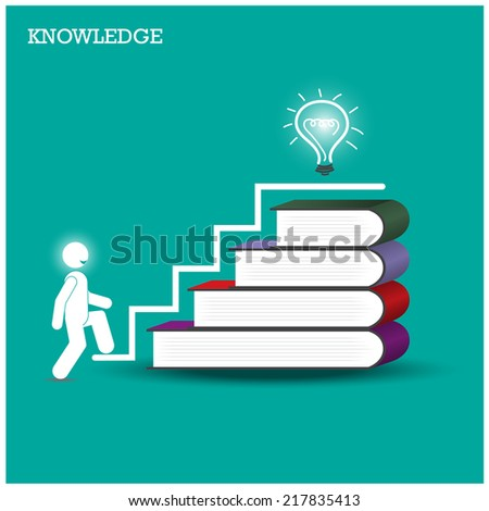 Knowledge and learning concept. Vector illustration  - stock vector