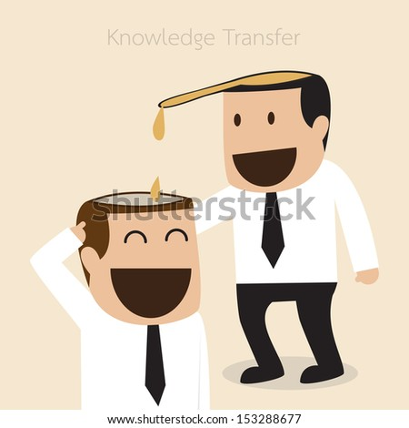 Knowledge transfer concept  - stock vector