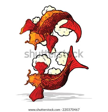 koi carp tattoo illustration - stock vector