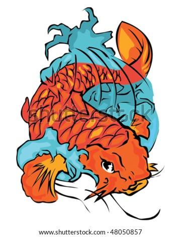 Koi Fish - stock vector