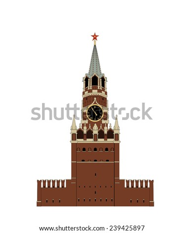 Kremlin tower - stock vector