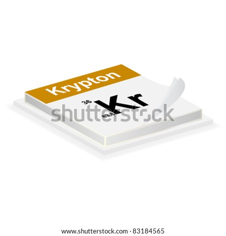 krypton button - stock vector