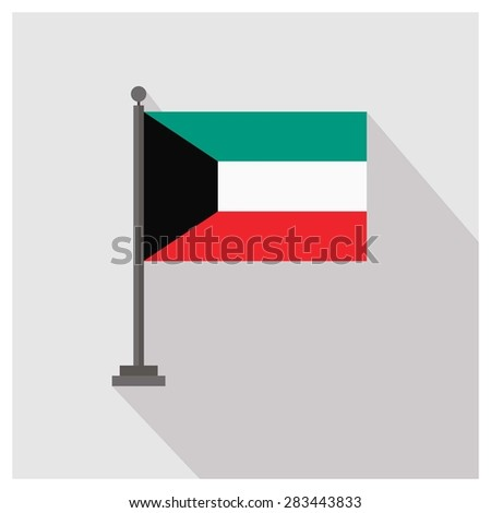 Kuwait Country flag - stock vector