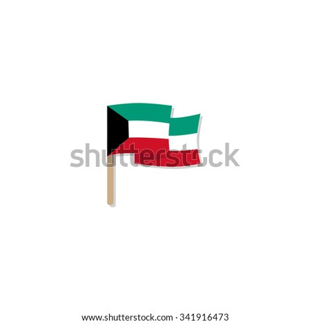 Kuwait Flag - stock vector