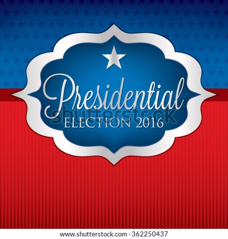 Label American election card in vector format. - stock vector