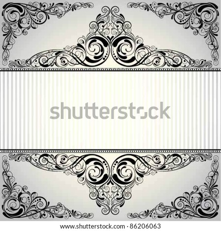 Label background.Background retro frame label design, black colored.Each of elements can easily regroup and remove. - stock vector
