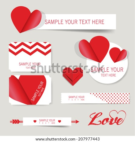 label banner love valentine's day vector - stock vector