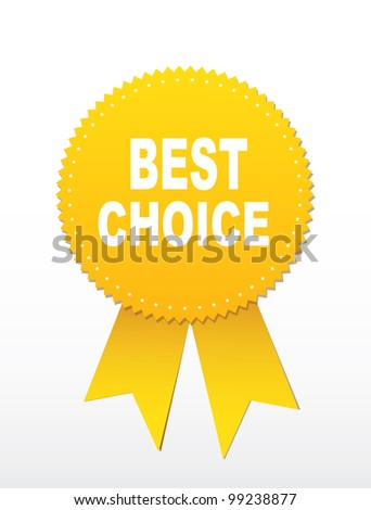 Label -  Best choice. Vector - stock vector