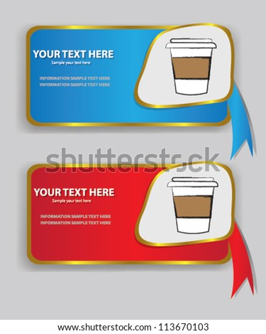 Label,coffee banner,Vector - stock vector