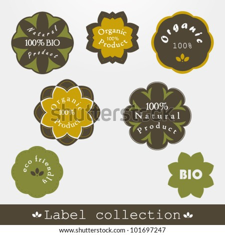 Label collection, 7 elements - stock vector