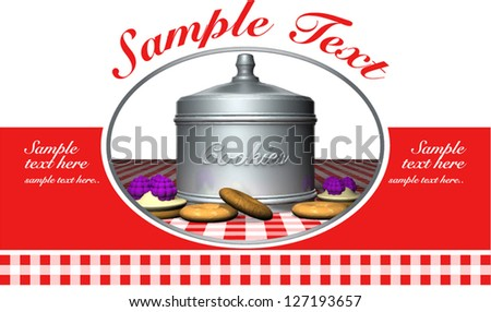 LABEL FOR BOX OF COOKIES - stock vector