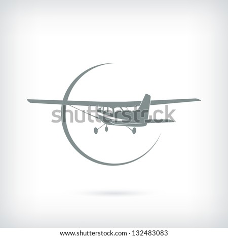 Label for small aviation - stock vector