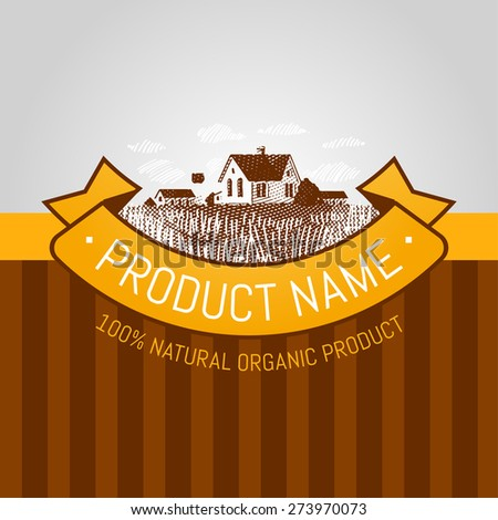 label template - stock vector