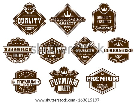 Labels and banners set in western style for design - stock vector