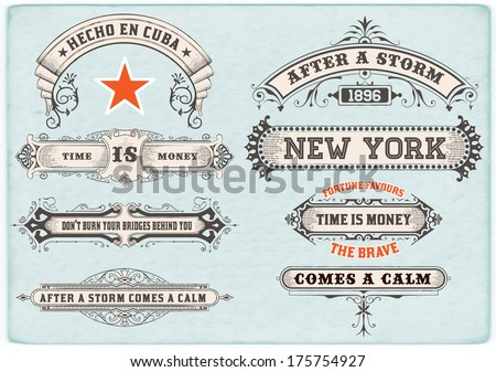 Labels set. Vector - stock vector