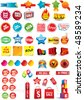 Labels, Signs and Tags - stock vector