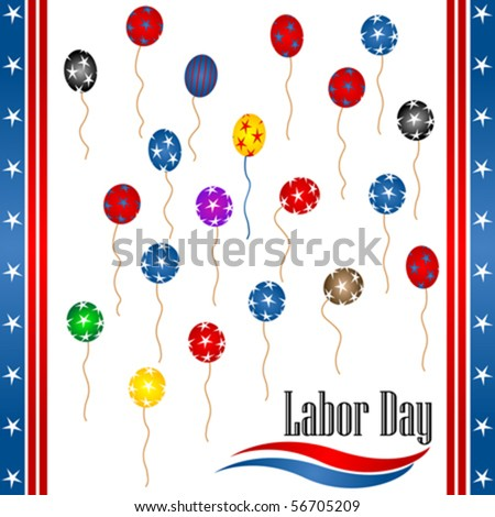 Labor day background illustration, vector - stock vector