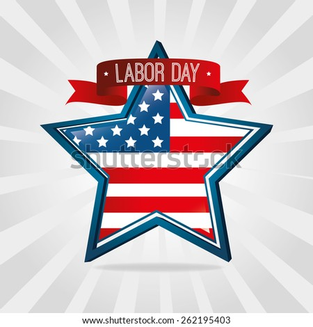 Labor day card design, vector illustration. - stock vector
