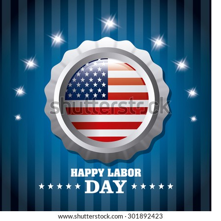 Labor day card design, vector illustration eps 10. - stock vector