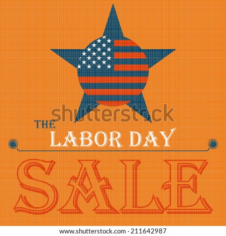 Labor day sale American sign - stock vector