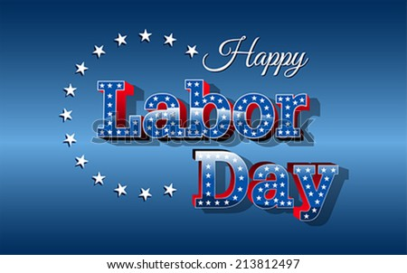Labor Day, United States of America, vector - stock vector