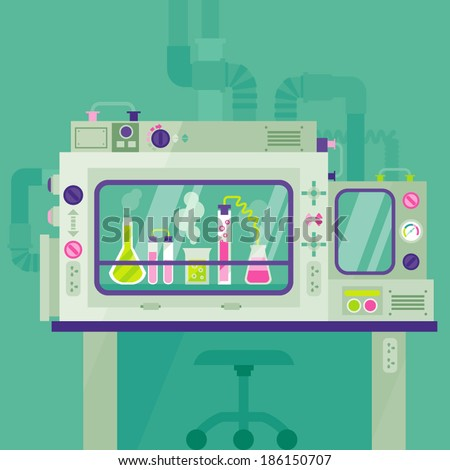 laboratory/Biological Safety Cabinet - stock vector