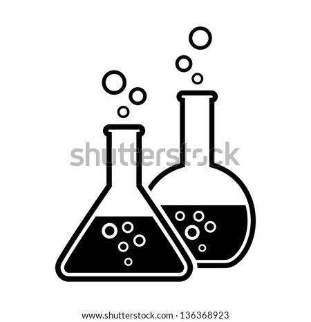 laboratory glass - stock vector