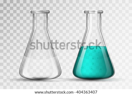 laboratory glassware or beaker - stock vector