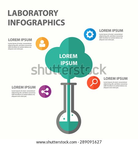 Laboratory infographic element presentation template brochure flyer flat design - stock vector