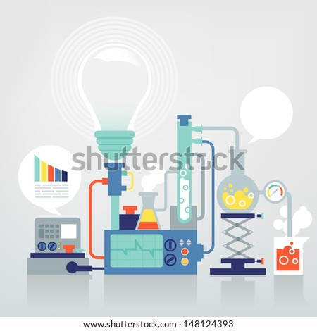 laboratory research - stock vector