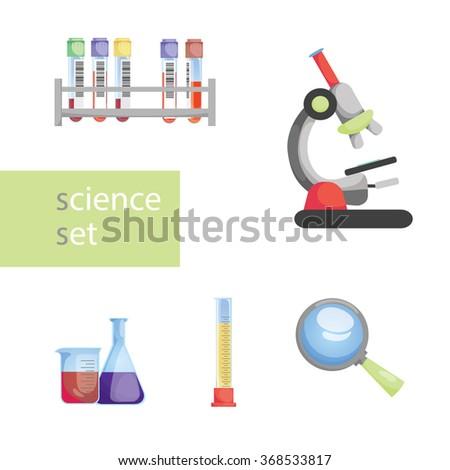 Laboratory tools. vector illustration - stock vector
