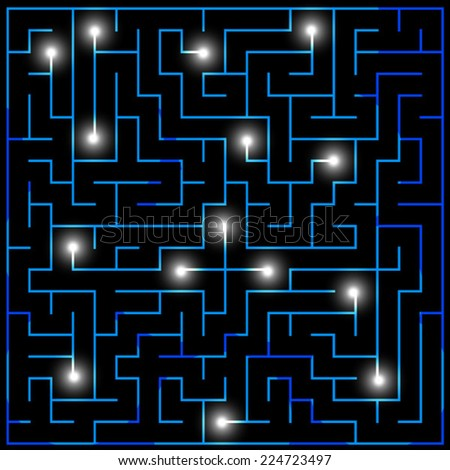 labyrinth illustration - stock vector