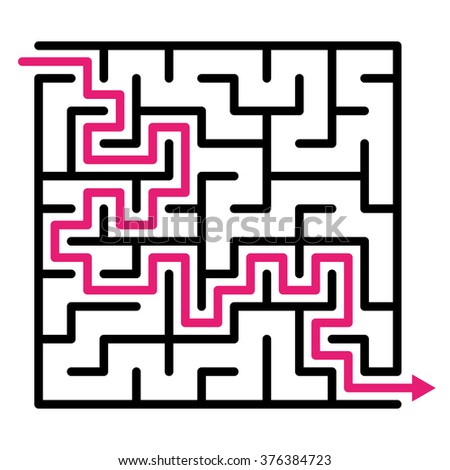 Labyrinth maze puzzle labyrinth vector, labyrinth maze, game maze vector kids maze lost, labyrinth game. Vector illustration - stock vector