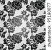 Lace background, ornamental flowers wallpaper - stock vector