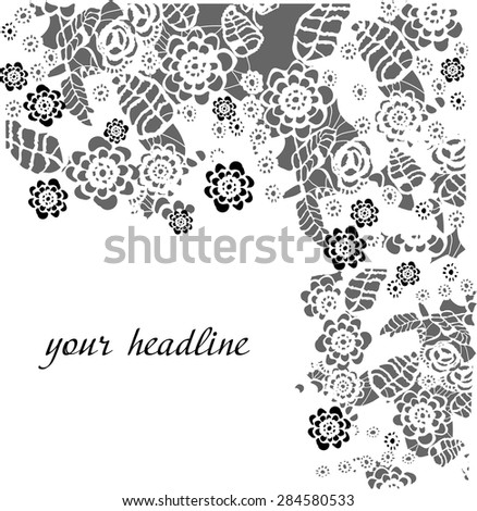 lace background. vector - stock vector