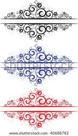 lace borders - stock vector