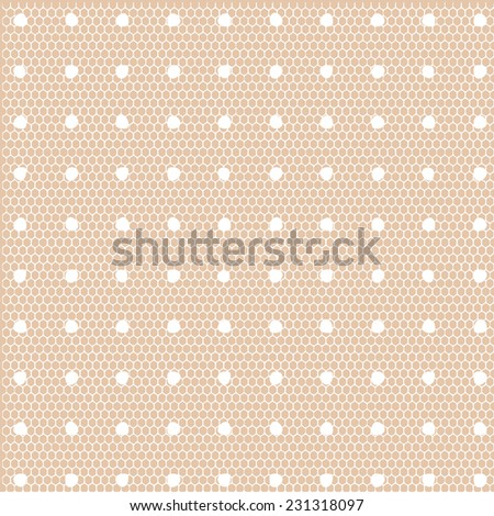 Lace dotted patter vector - stock vector
