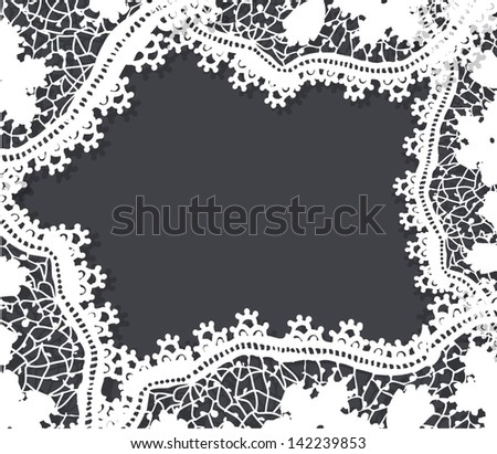 Lace frame - stock vector