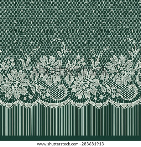 Lace Ribbon. Seamless Pattern. - stock vector