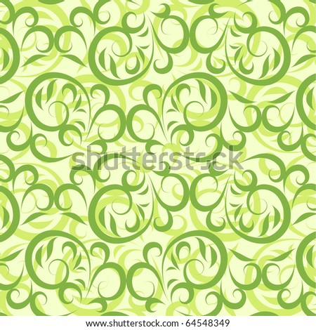 Lace vector green background - stock vector