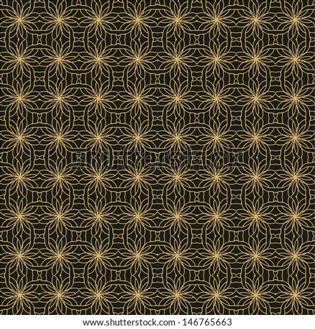 Laced decorative golden pattern - stock vector