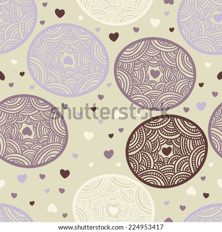 lacy circle seamless texture - stock vector