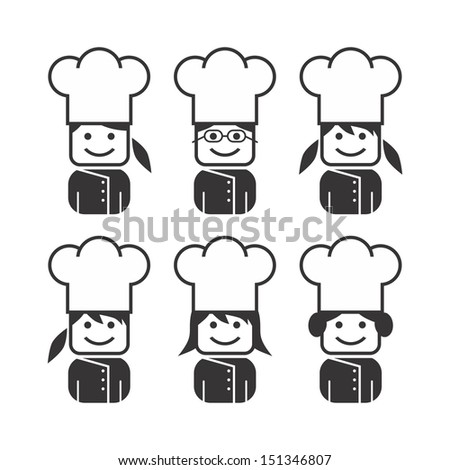 lady chef collection - stock vector