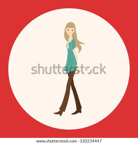 lady girl cartoon theme elements vector,eps - stock vector
